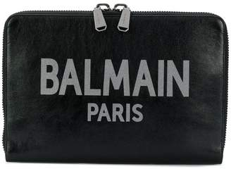 Balmain oversized branded clutch