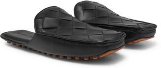 Bottega Veneta Intrecciato Leather Backless Loafers - Men - Black
