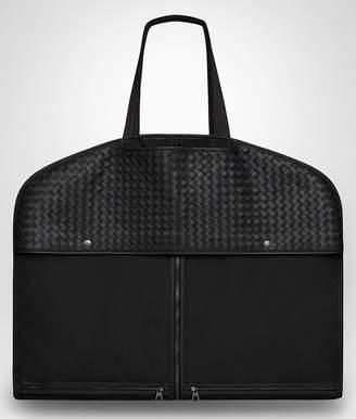 Bottega Veneta Nero Technical Canvas Garment Case