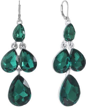 MONET JEWELRY Monet Jewelry Green Chandelier Earrings
