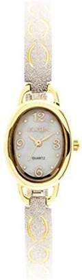 Elgin Women's Diamond-Cut Two Tone Bracelet Watch EG9925