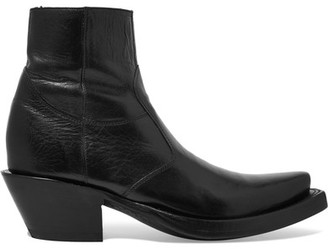 Vetements - Lucchese Leather Ankle Boots - Black $3,045 thestylecure.com