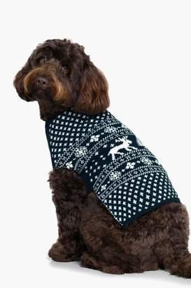 boohoo Snoopy Fairisle Christmas Dog Jumper