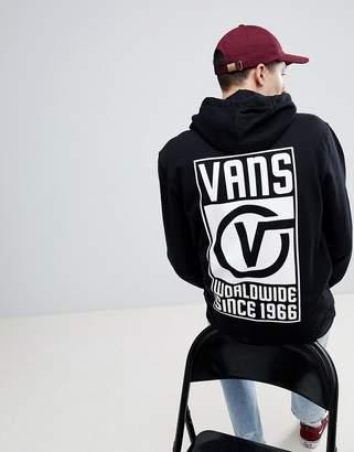 Vans Worldwide Hoodie With Back Print In Black VA3H99BLK
