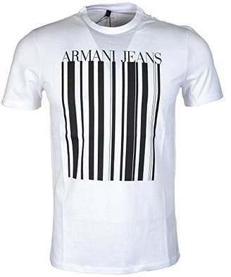 Armani Jeans Men's Regular Fit Jersey Barcode T-Shirt