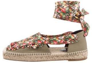 Balenciaga Floral Lace-Up Espadrilles