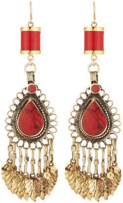 Devon Leigh Coral Chandelier Earrings