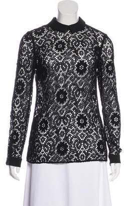 Burberry Collared Lace Top
