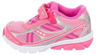 Saucony Kids Girls' Knit Round-Toe Sneakers