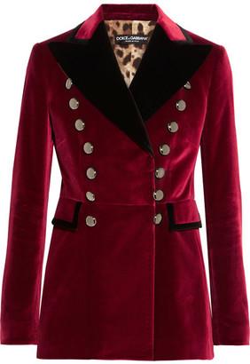 Dolce & Gabbana - Velvet Blazer - Burgundy $2,995 thestylecure.com