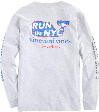 Vineyard Vines Mens Long-Sleeve 2018 NYC Run Marathon T-Shirt