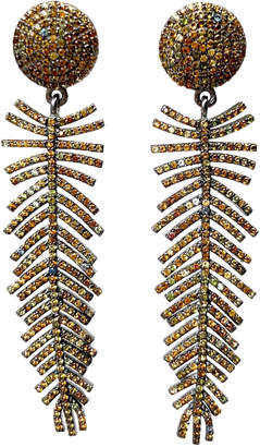 Dripping In Gems Topaz Feather Earrings