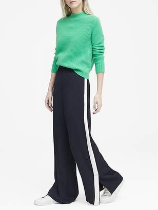 Banana Republic High-Rise Wide-Leg Side-Stripe Pant
