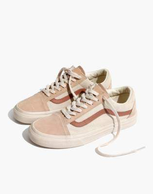 Madewell x Vans Unisex Old Skool Lace-Up Sneakers in Camel Colorblock