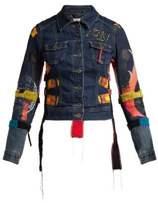 Couture Noki - Customised Street Painted Denim Jacket - Womens - Denim Multi