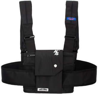 Ader Error ADER error SSENSE Exclusive Black ASCC Waistcoat Design Sports Backpack