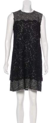 Dolce & Gabbana Tweed Lace-Accented Dress