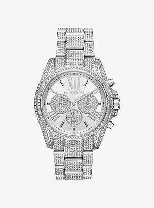 Michael Kors Bradshaw Pave Silver-Tone Watch