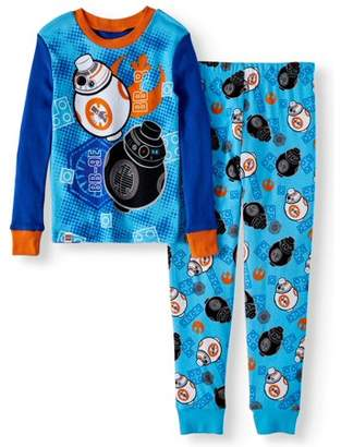 Star Wars Lego Glow in the Dark Fitted BB8 2 Piece Pajama Sleep Set (Big Boy & Little Boy)