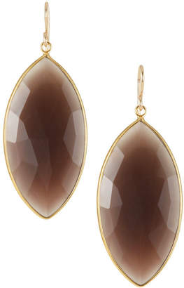 Devon Leigh Earth-Tone Agate Drop Earrings