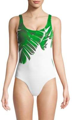 Onia Kelly Palm Leaf One-Piece