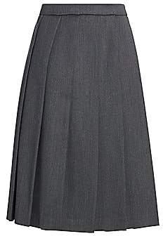 Gucci Women's Wool Box Pleated Midi Skirt
