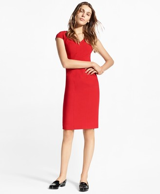 d45c74d0d03 Brooks Brothers Petite Stretch-Wool Twill Sheath Dress