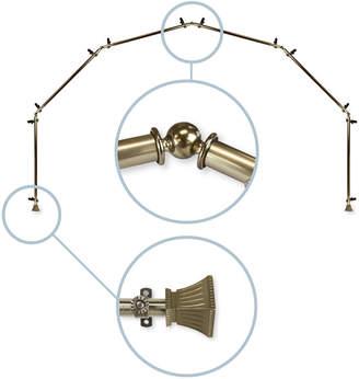 """Rod Desyne Trumpet 13""""/16"""" 6-Sided Bay Window Curtain Rod"""