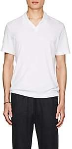 Theory Men's Slub Cotton-Linen Polo Shirt - White