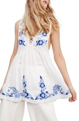 Women's Free People Aida Embroidered Slipdress $88 thestylecure.com