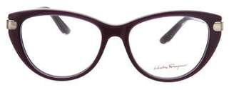 Salvatore Ferragamo Cat-Eye Logo Eyeglasses