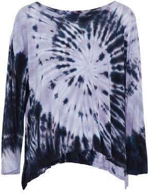 Enza Costa Draped Tie-Dye Jersey Top