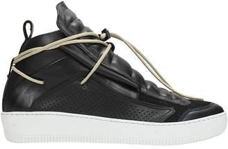 Ylati Black Leather Sneakers