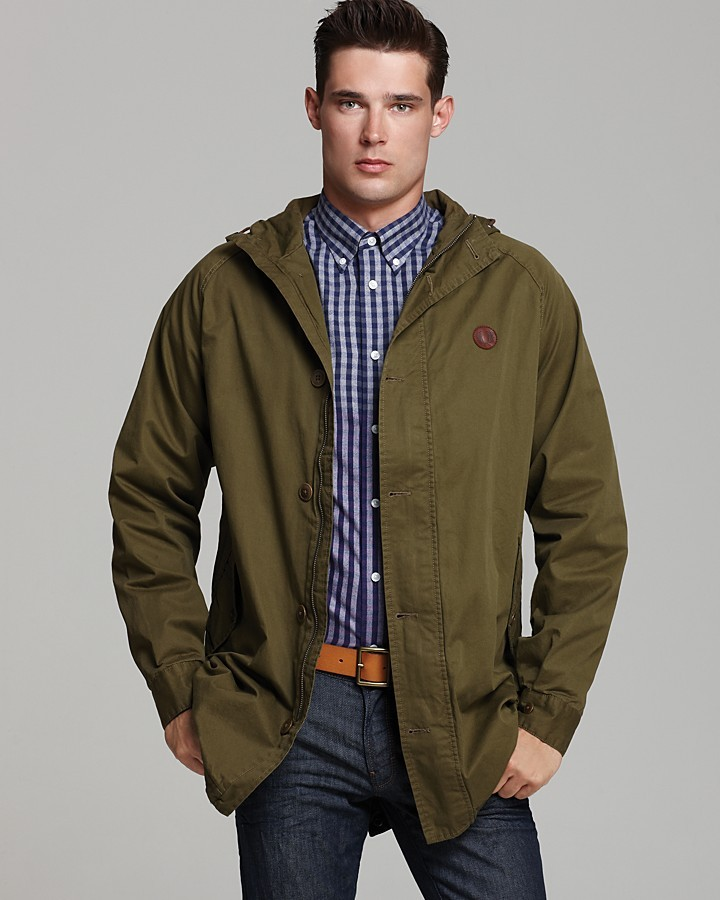 Fred Perry Fishtail Cotton Twill Utility Jacket