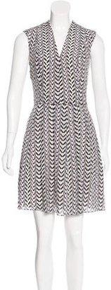 Reiss Abstract Print Silk Dress $75 thestylecure.com