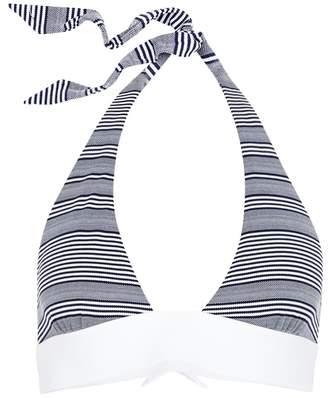 Heidi Klein Cote Sauvage Navy Striped Bikini Top