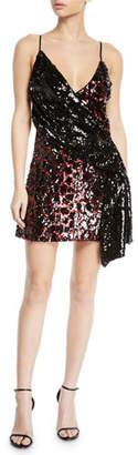 NBD Davie Sequined Animal Mini Dress