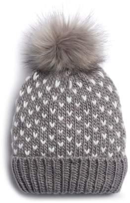 Lauren Conrad Women's Birds Eye Knit Pom Pom Beanie