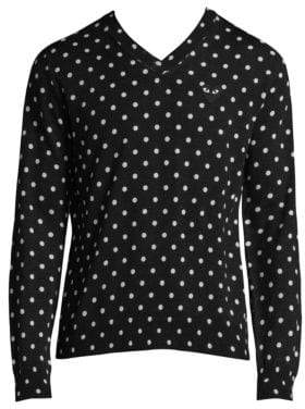 Comme des Garcons Polka Dot Wool Sweater