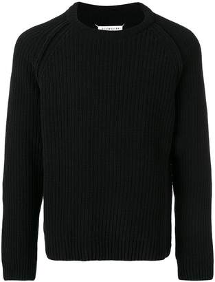 Maison Margiela cable-knit fitted sweater