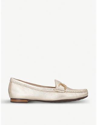Carvela Comfort Cindy metallic leather loafers