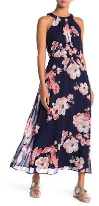 Robbie Bee Sleeveless Floral Print Maxi Dress