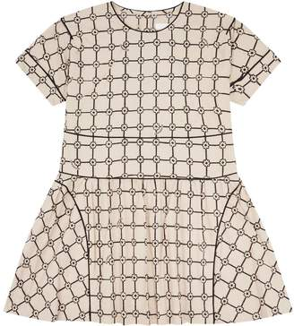Burberry Cotton Piped Flower Dress