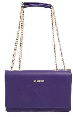 Love Moschino Borsa Embossed Hearts PU Shoulder Bag