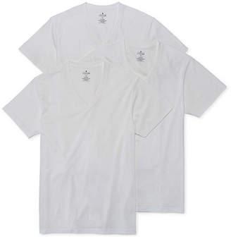 STAFFORD Stafford 3-Pk. Cotton Stretch V-Neck T-Shirts