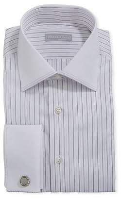 Stefano Ricci Men's Dash-Print Dress Shirt w/ French Cuffs