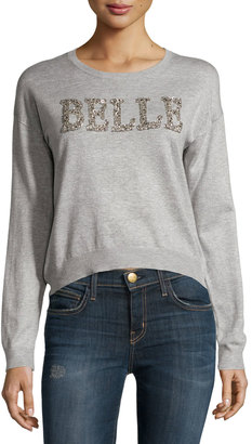 Philosophy Belle Beaded Graphic Sweater, Mist Gray $75 thestylecure.com