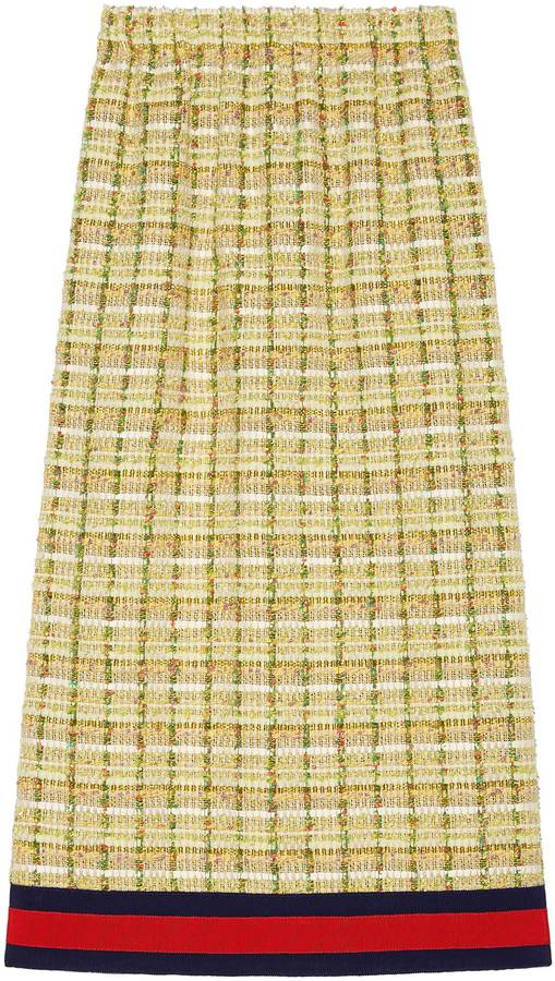 Gucci Tweed mid-length skirt