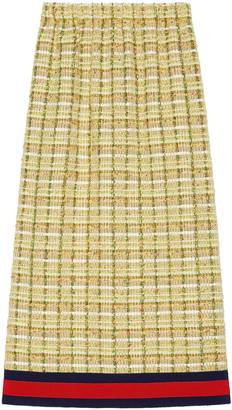 Tweed mid-length skirt $1,390 thestylecure.com