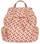 Burberry Medium Rucksack Logo Print Nylon Backpack